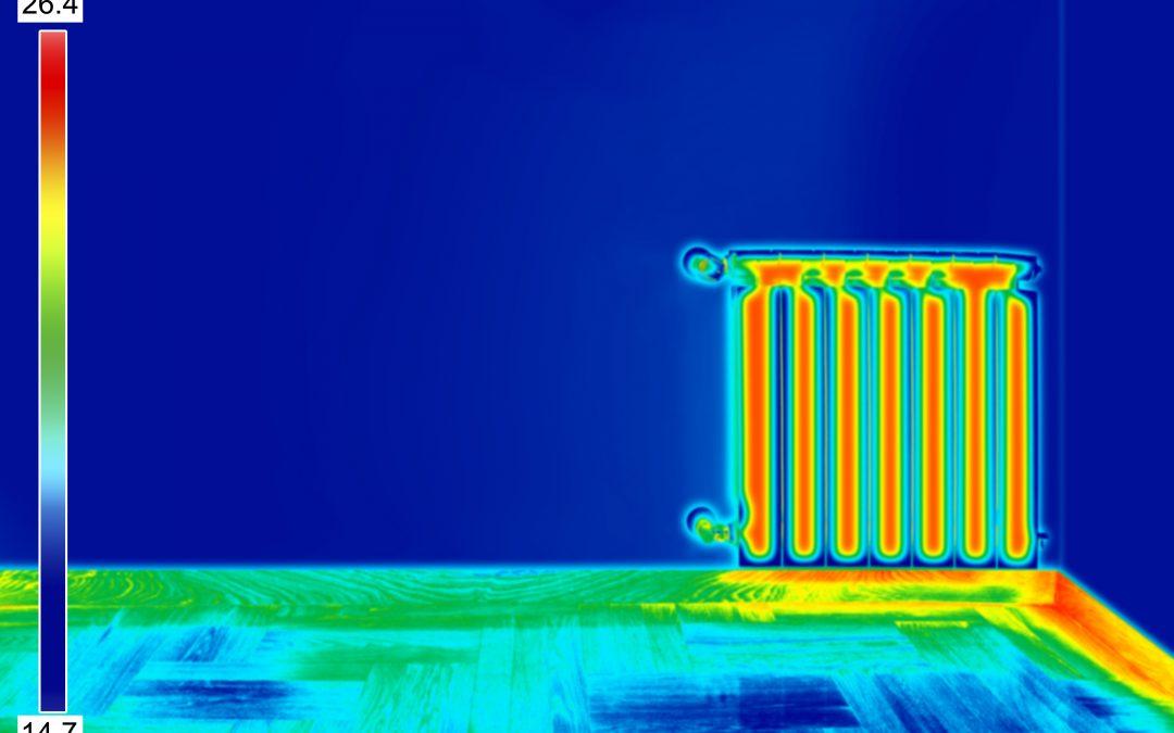 Heizung defekt - Leck orten per Wärmebild